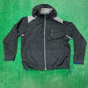 Champion Hooded Windbreaker Rain Jacket Spellout